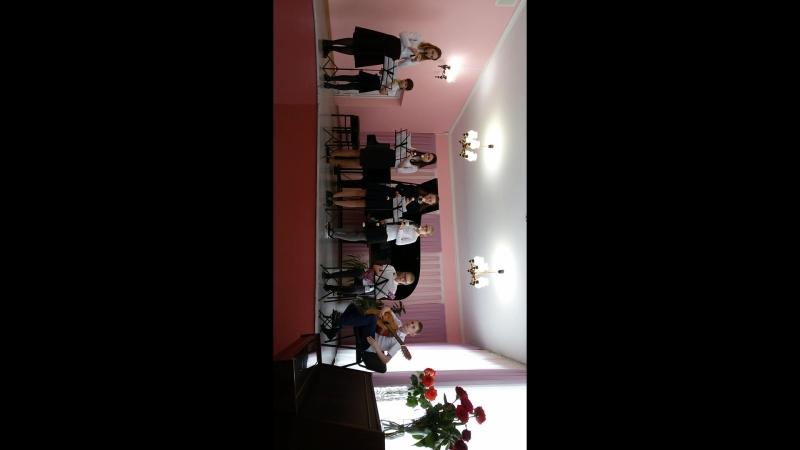 Выступление на конкурсе Баховская весна.