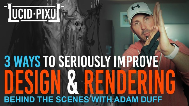 3 WAYS To Seriously IMPROVE DESIGN RENDERING (Including FULL PAINTING DEMO!) - BTS Episode 17