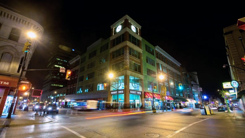 -London at Night ¦ Timelapse of London Ontario ¦ StoryBox Productions-