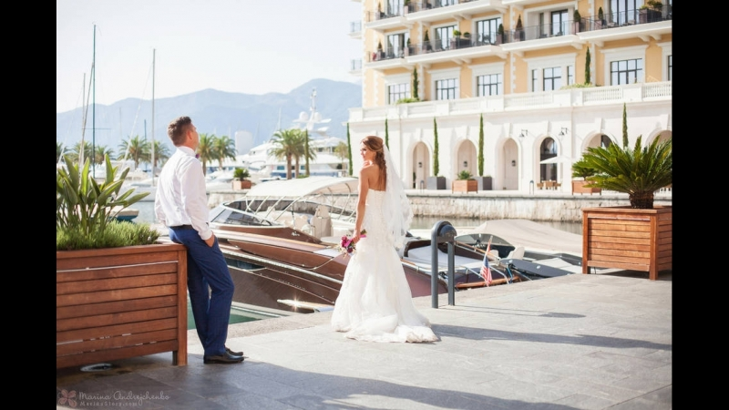 Свадьба в Черногории в Будвайской Ривьере Анны и Василия
