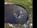 Водопад внутри озера Кончос в Португалии – технически сложный, оригинально выполненный инженерный объект, являющийся шахтным во