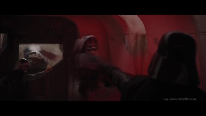Дарт Вейдер вступает в бой с повстанцами.Фильм Звёздные войны Изгой-один 2016 год (Rogue One)