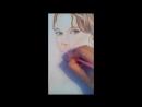 Портрет цветными карандашами.