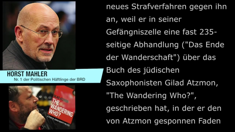 Horst Mahler - Politischer Häftling Nr 1 in der BRD