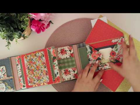 альбом с двумя корешками - Flora 2 by Carta Bella - gatefold mini album