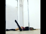 Exotic pole with Mila (Anastasia Fateeva) instagram