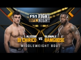 UFC FIGHT NIGHT WINNIPEG Alessio Di Chirico vs Oluwale Bamgbose