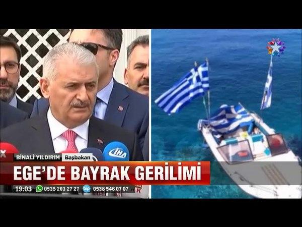 Egede bayrak gerilimine Türkiyenin tepkisi Şımarık çocuk elimizden bir kaza çıkabilir