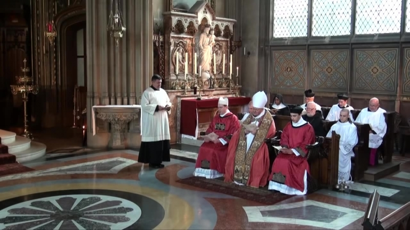 First Vespers of Laetare Sunday (St Michael's Abbey, Farnborough. 29.3.2014)