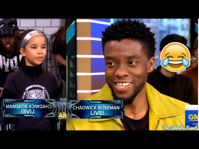Black Panther Chadwick Boseman Funniest Interview with Kids | 2018
