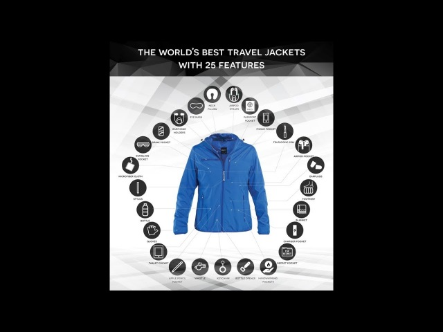 BAUBAX 2.0 : The World's Best TRAVEL JACKET with 25 Features