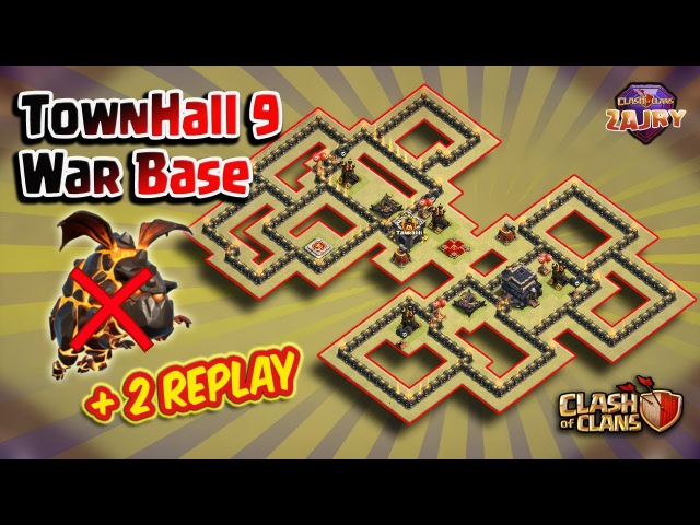 2 Serangan Lavaloon GAGAL !! | TH9 War Base Terkuat | 2 Proof | Clash of Clans
