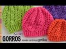 Gorros remolino con trenzas gorditas tejidos a crochet Tejiendo Perú