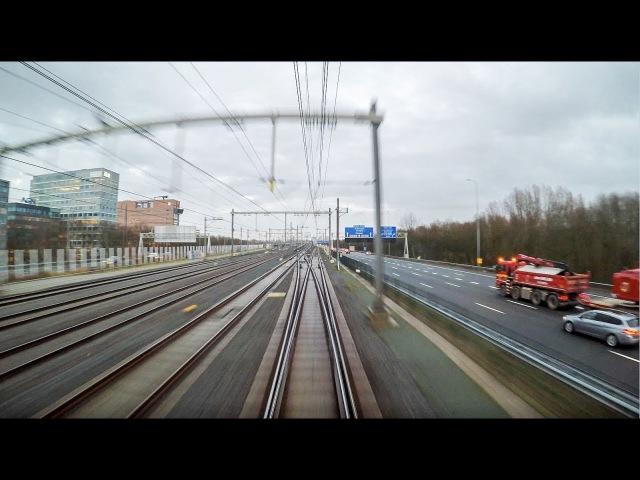 4K Cab Ride NL Leiden Centraal – Schiphol Airport – Almere Centrum IC 1859 04-01-2018