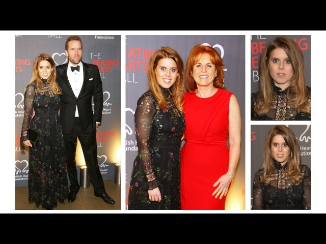 Princess Beatrice, Male Friend and Sarah Ferguson attended Heart Foundation Bal