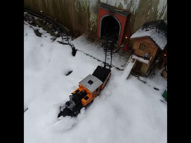 G scale lgb plow in the snow hemlock hill