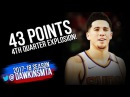 Devin Booker Full Highlights 2018.01.16 at Blazers - 43 Pts, 8 Asts, 4th Quarter EXPLOSiON!