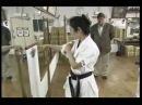 Demostración con makiwara - Karate Do