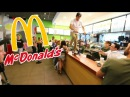 Guy Backflip off McDonald's Counter