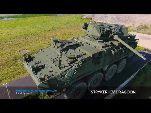 General Dynamics Land Systems - Stryker ICV Dragoon 30mm 8X8 Armoured Vehicle [480p]