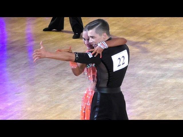 Vladislav Untu Polina Baryshnikova | Samba | WDSF World Championship Youth 10 Dance - Semifinal