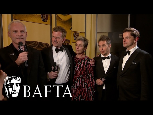 Three Billboards Outside Ebbing Missouri   Backstage Interview   EE BAFTA Film Awards 2018