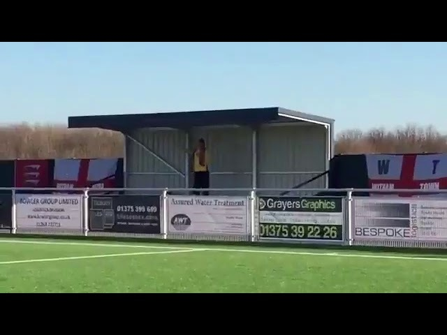 This one Witham Town FC fan made the journey to Grays Athletic yesterday and apparently sung