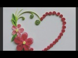 Decorate quilling greeting card and wall design(HEART TYPE) by!!B.G.VARIYA