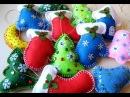 Новогодние игрушки из фетра мастер класс Новогодние украшения своими руками