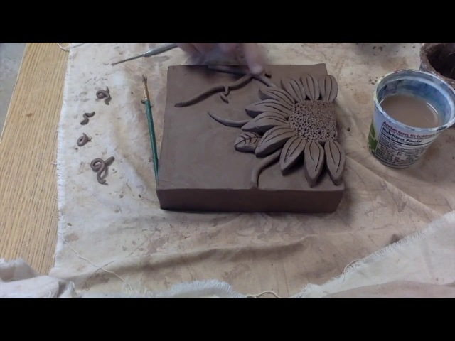 Time Lapse Ceramic Flower Relief Tiles