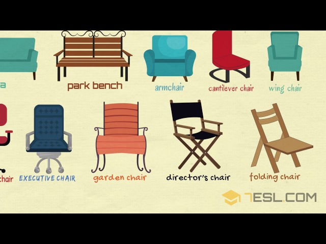 Chairs Vocabulary Learn Names of Chairs in English