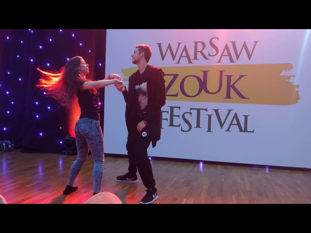 WZF2018: Patrycja Piotr - Roticery movement technique combination Demo ~ video by Zouk Soul