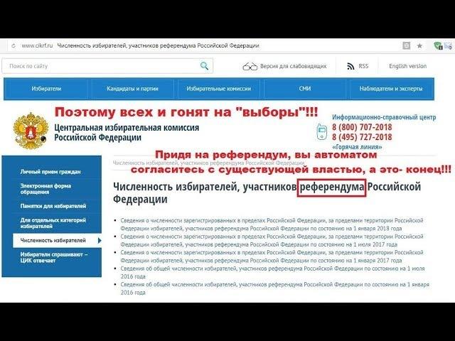 ЦИК России подтверждает референдум вместо выборов 2018