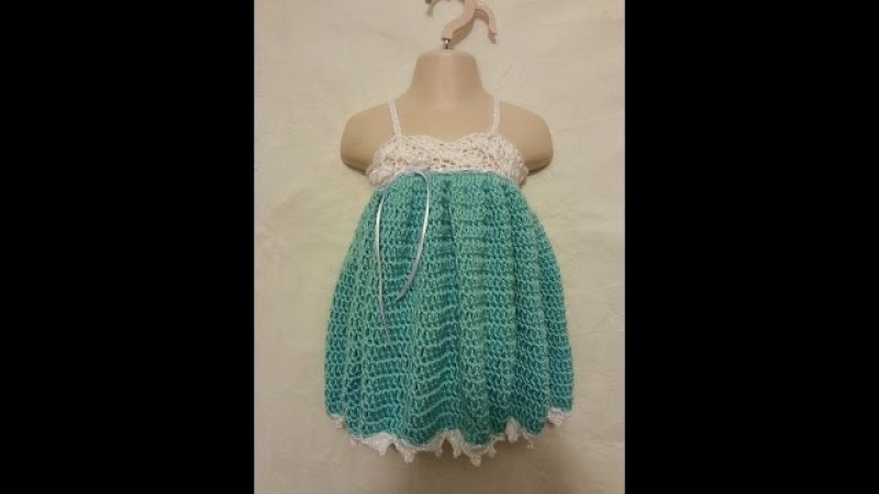 CROCHET How to Crochet Easy Baby Toddler Adjustable Size Spring Easter Dress Gown TUTORIAL 222