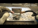 TIG Welding MIG Welder at the Same Time - Using Wire Instead of Filler Rod