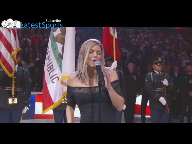 Fergie does an interesting rendition of the Nation Anthem during NBA All Star Weekend 2018