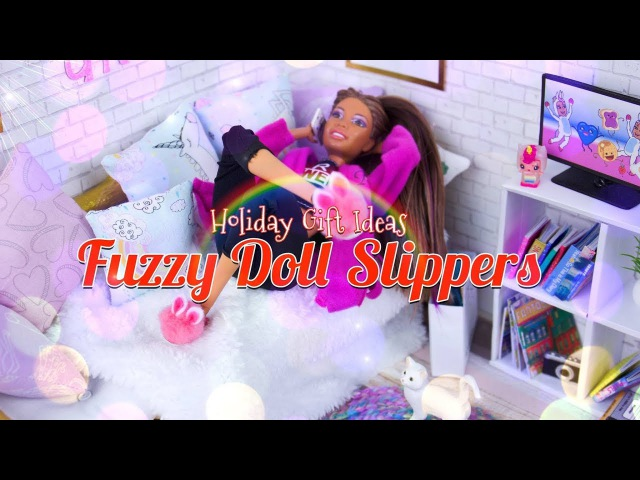 DIY - How to Make: Fuzzy Doll Slippers | EASY Quick Craft | Christmas Gift Ideas