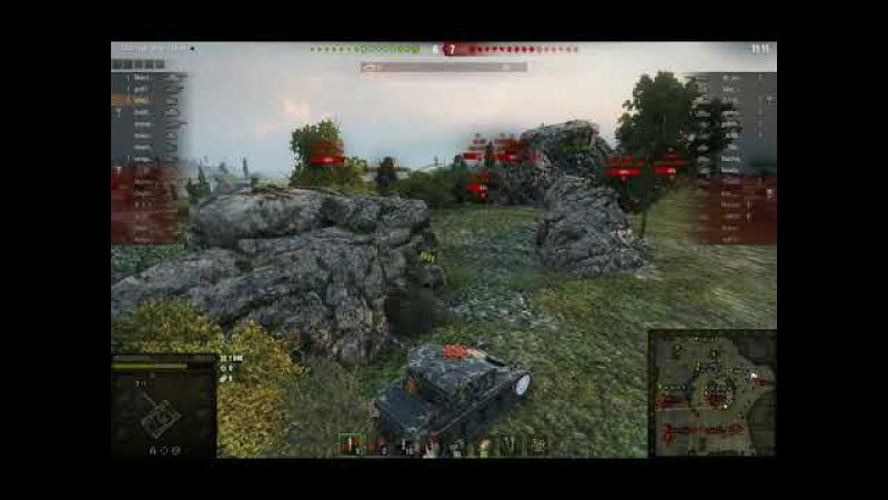 World of Tanks завалил 6 танков AMX 12t на карте Рудники смотреть онлайн без регистрации