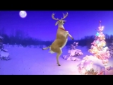 Santa and Reindeers - Merry Christmas and a Happy New Year.