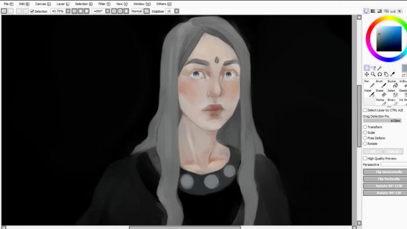 рисую рисунок руками