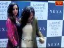 Lakme Fashion Week_ Drashti Dhami, Sanaya Irani pose together for shutterbugs