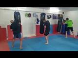 Kickboxing training. Fight club