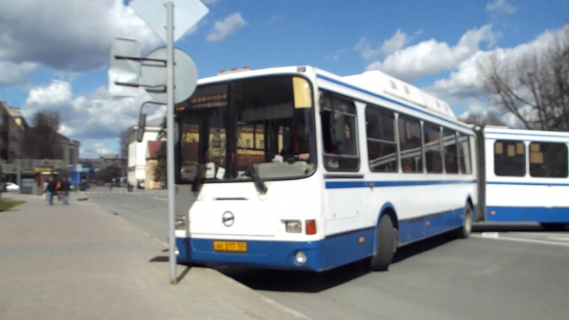 Разворот автобуса