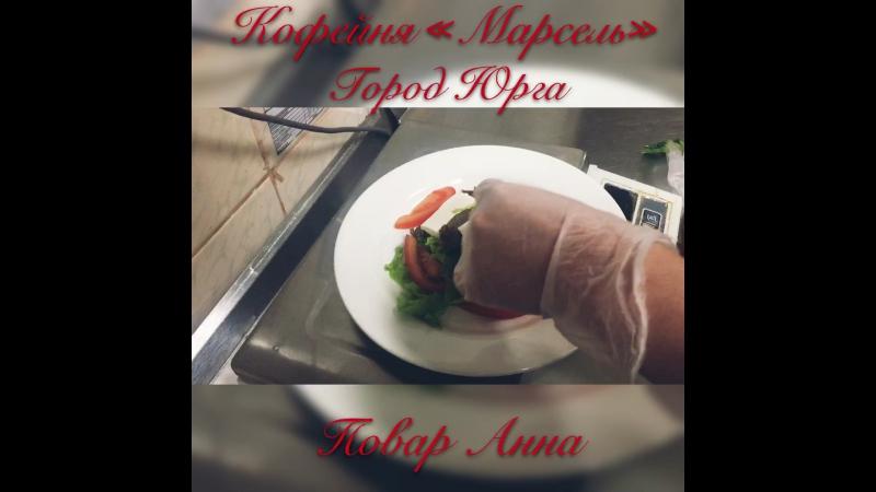 Салат с говядиной и сыром фета