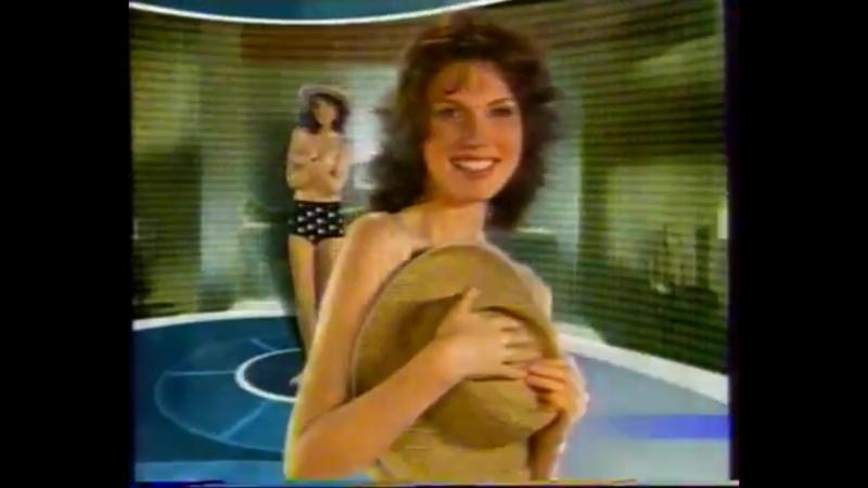 Фрагмент рекламной заставки (REN-TV, октябрь 2003) Девушка с шляпой