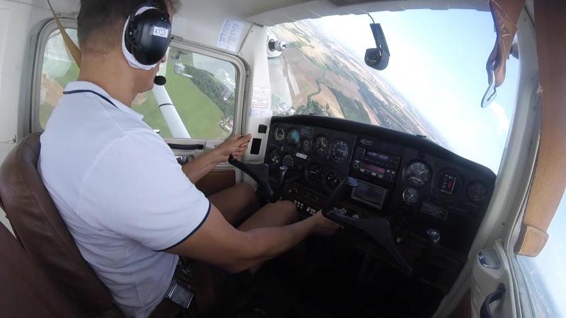Мой первый самостоятельный полёт. Cessna 152