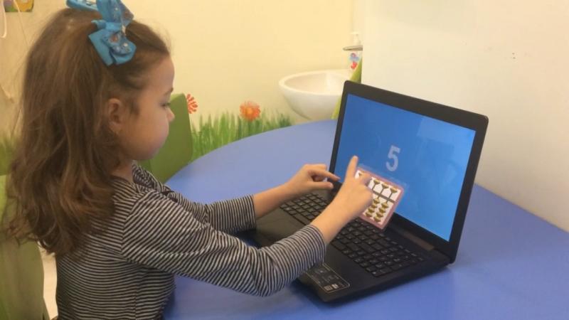 Ризаева Камилла 6 лет, Анзан , 10 однозначных на 0'75 сек
