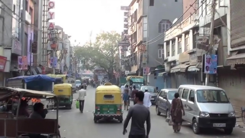 New Delhi Street Walk - Arkashan Road Pahar Ganj