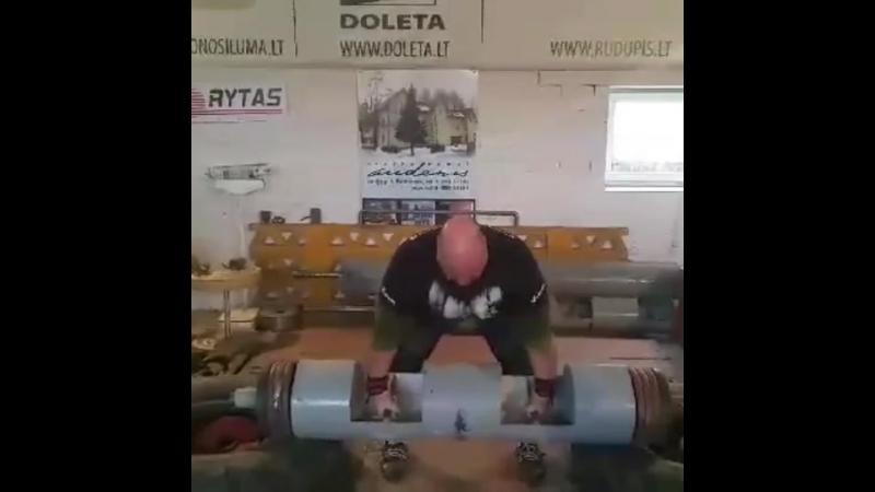 Легендарный стронгмен Видас Блекайтис начал подготовку к турниру памяти Ирины Ширяевой 💪 бревно - 190 кг💪