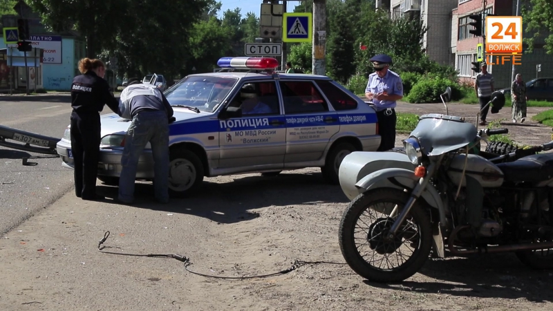 Авария ул. Ленина - Чапаева 27.07.2017